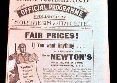 Newcastle v Bradford City 09.09.1911