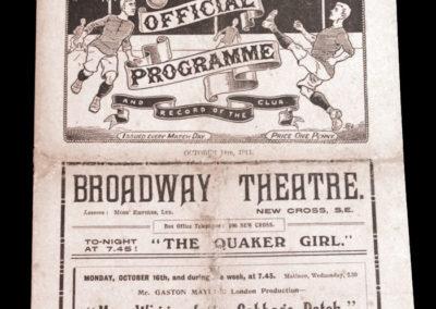 Woolwich Arsenal v Bradford City 14.10.1911