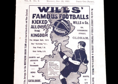 Oldham v Newcastle 25.12.1911