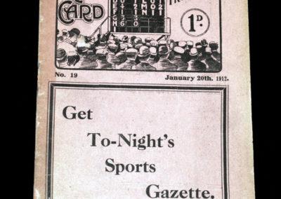 Middlesbrough v Sheffield Wednesday 20.01.1912