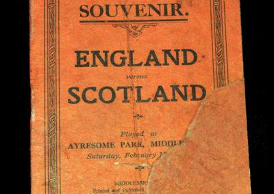 English League v Scottish League 17.02.1912