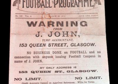 Scotland v England 23.03.1912