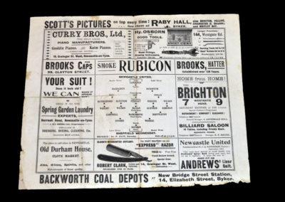 Newcastle v Sheffield Wednesday 02.11.1912