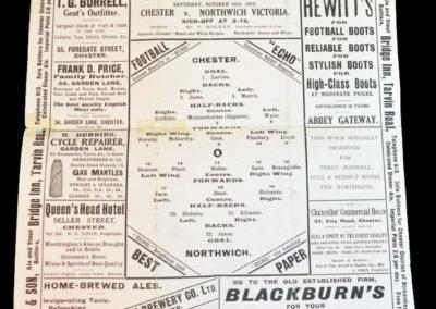Chester v Northwich 18.10.1913