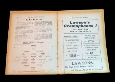 Fulham v Grimsby 22.11.1913 & England v The South 24.11.1913