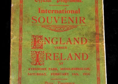 England v Ireland 14.02.1914