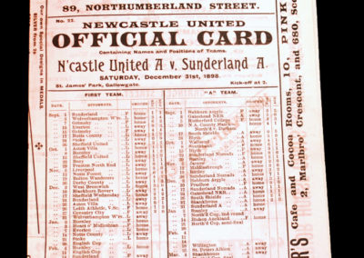 Newcastle A v Sunderland A 31.12.1898