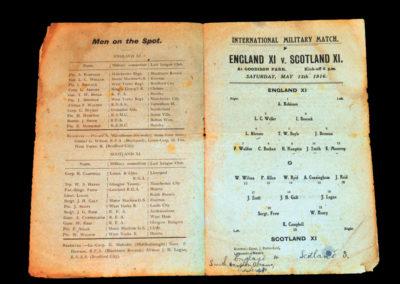 England v Scotland 13.05.1916 - Military International