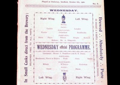 Sheffield Wednesday v Preston 06.10.1900