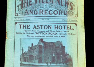 Aston Villa v Newcastle 05.04.1920