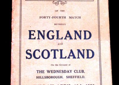 England V Scotland 10.04.1920