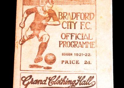 Bradford City v Bolton 17.09.1921