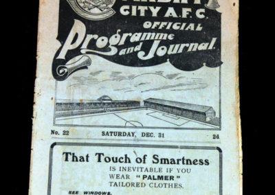 Cardiff Reserves v Rhondda 31.12.1921