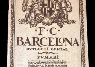 Barcelona v Crook Town 1922