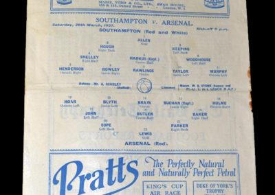 FA Cup Semi Final - Southampton v Arsenal 26.03.1927 (played at Chelsea)