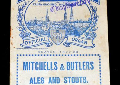 Coventry v Charlton 03.09.1927