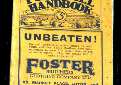 Handbook for Luton 1928/29 Season