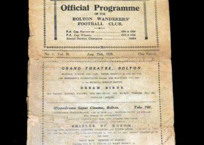 Bolton v Everton 25.08.1928