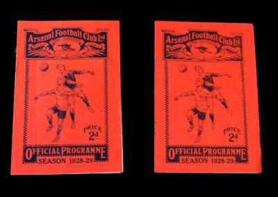 Arsenal v Stoke 12.01.1929 | Arsenal v Mansfield 26.01.1929