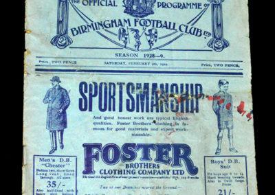 Birmingham v Sunderland 09.02.1929
