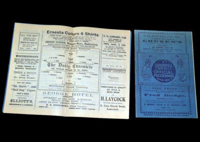 Huddersfield v West Brom 06.03.1929 | Huddersfield Reserves v Man Utd Reserves 09.03.1929