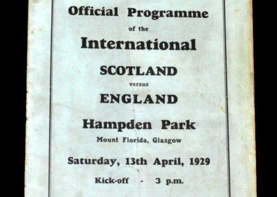 Scotland v England 13.04.1929