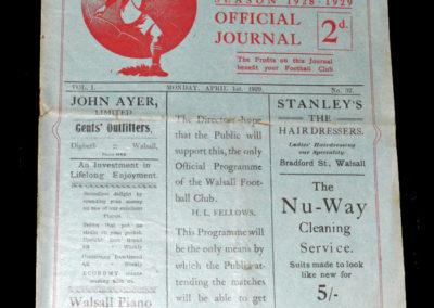 Walsall v Watford 01.04.1929