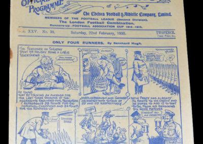 Chelsea v Notts County 22.02.1930