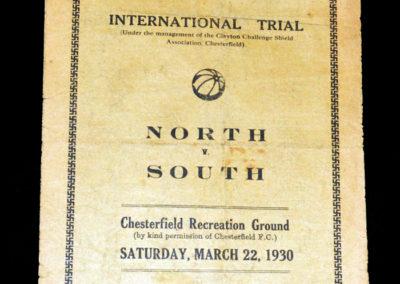 North v South Schools 22.03.1930