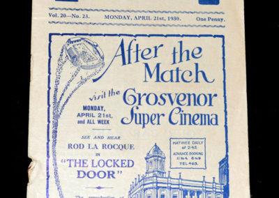 Oldham v Blackpool 21.04.1930