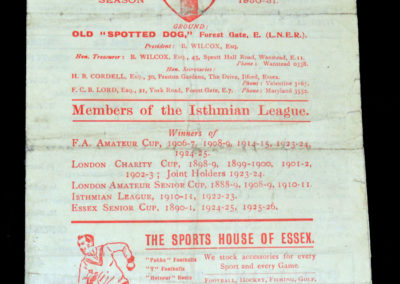 Clapton v Casuals 06.09.1930