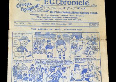 Chelsea v Bolton 20.09.1930
