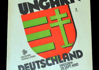 Germany v Hungary 29.09.1930