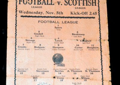 Football League v Scottish League 05.11.1930