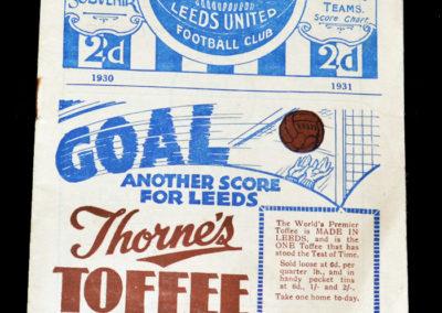 Leeds v Chelsea 22.11.1930