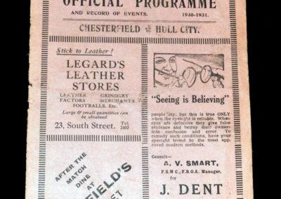 Chesterfield v Hull 24.01.1931
