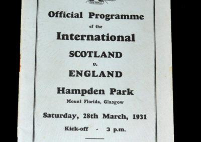 Scotland v England 28.03.1931