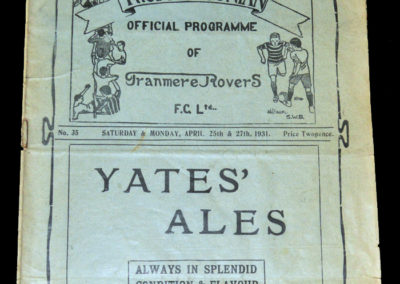 Tranmere v Darlington / Southport 25/27.04.1931