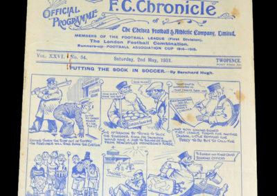 Chelsea v Newcastle 02.05.1931