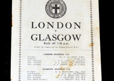 London Schools v Glasgow Schools 09.05.1931