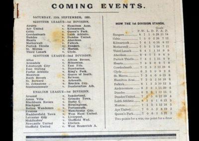 Albion v Hamilton 05.09.1931 | Airdrie v Motherwell 05.09.1931