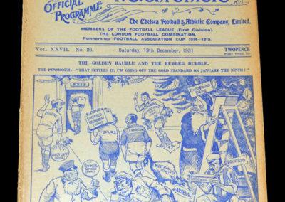Chelsea v Birmingham 19.12.1931