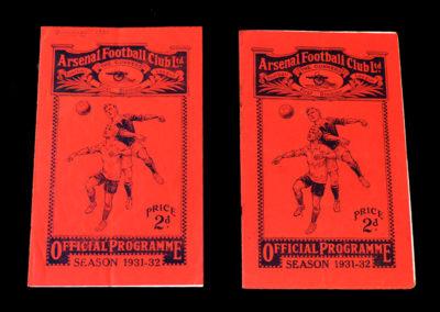 Arsenal v Sheff Utd 26.12.1931 | Arsenal v Darwin 09.01.1932