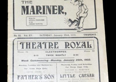 Grimsby v Birmingham 23.01.1932