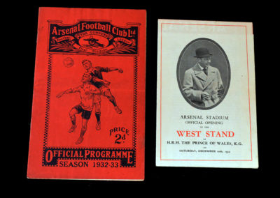 Arsenal v Chelsea 10.12.1932 (with official stand opening)