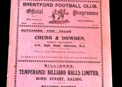 Brentford v Aldershot 24.12.1932
