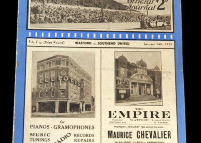Watford v Southend 14.01.1933