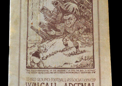 Walsall v Arsenal 14.01.1933 The greatest cup shock of the age. Walsall kicked them off the park apparently. Chapman sacked Tommy Black after he recklessly gave away the decisive penalty.