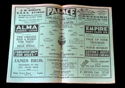 Luton v Spurs 28.01.1933