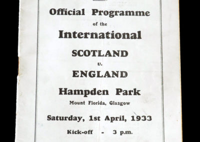 Scotland v England 01.04.1933